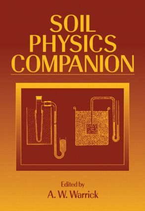 Soil Physics Companion: 1st Edition (Hardback) book cover