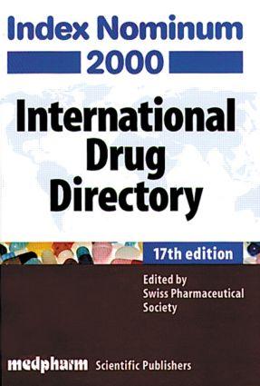 Index Nominum 2000, Seventeenth Edition: 17th Edition (Hardback) book cover