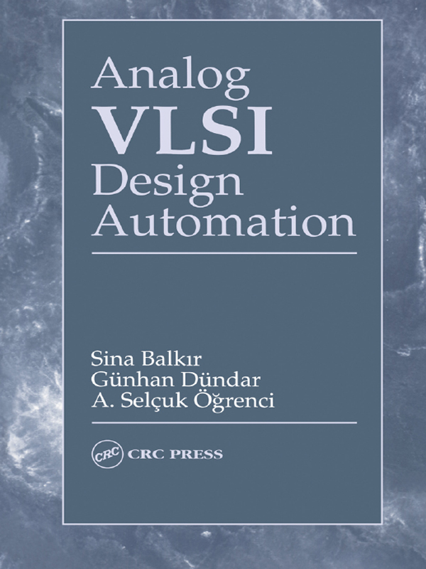 Analog VLSI Design Automation: 1st Edition (e-Book) book cover