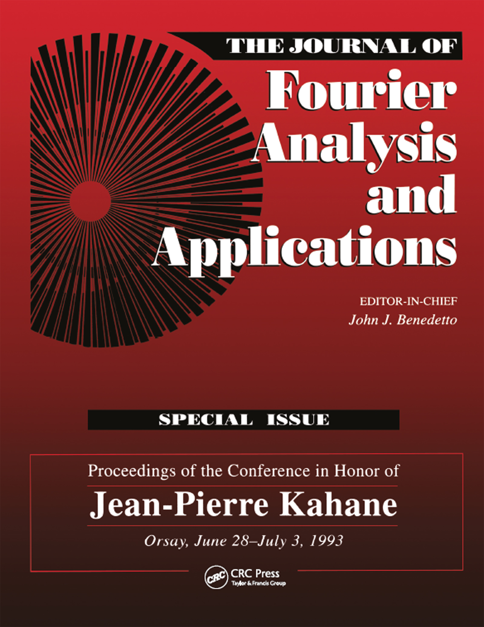 Journal of Fourier Analysis and Applications Special Issue: 1st Edition (Paperback) book cover