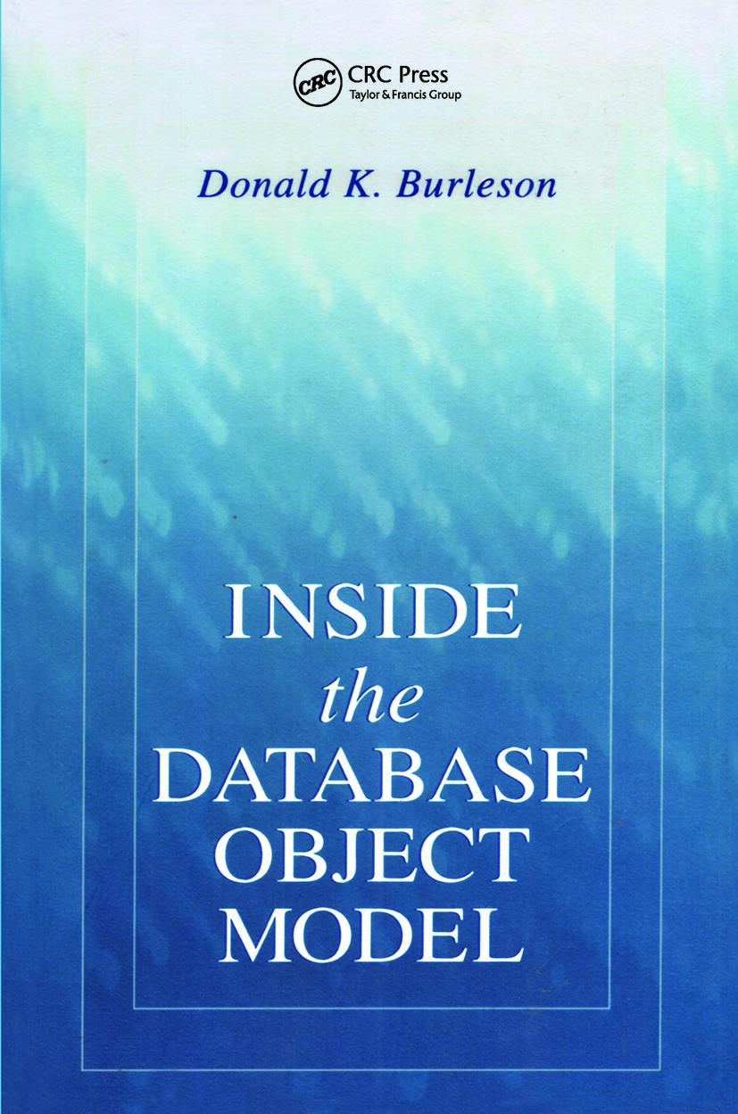 Inside the Database Object Model: 1st Edition (Hardback) book cover