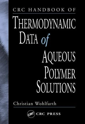 CRC Handbook of Thermodynamic Data of Aqueous Polymer Solutions: 1st Edition (Hardback) book cover
