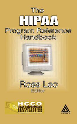 The HIPAA Program Reference Handbook: 1st Edition (Hardback) book cover