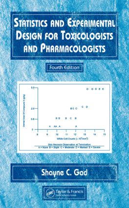 Statistics and Experimental Design for Toxicologists and Pharmacologists: 4th Edition (Hardback) book cover