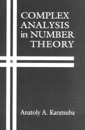 Complex Analysis in Number Theory: 1st Edition (Hardback) book cover