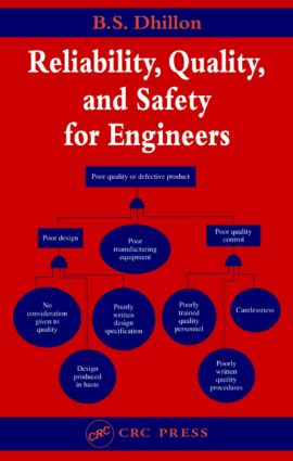 Reliability, Quality, and Safety for Engineers: 1st Edition (Hardback) book cover