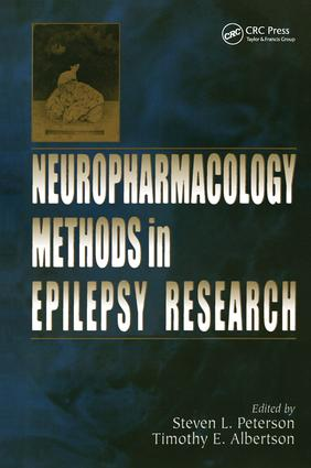 Neuropharmacology Methods in Epilepsy Research: 1st Edition (Paperback) book cover
