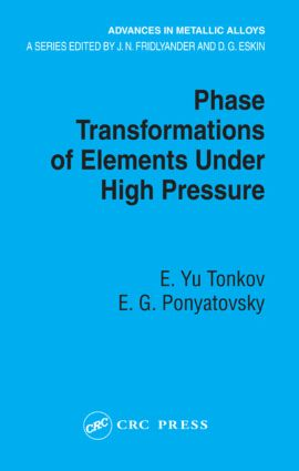 Phase Transformations of Elements Under High Pressure: 1st Edition (Hardback) book cover