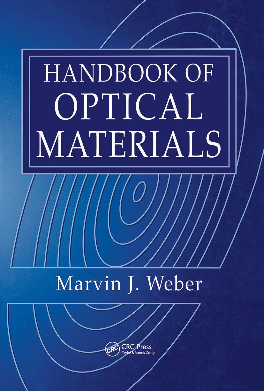 Handbook of Optical Materials: 1st Edition (Hardback) book cover