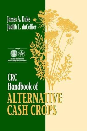 CRC Handbook of Alternative Cash Crops: 1st Edition (Hardback) book cover