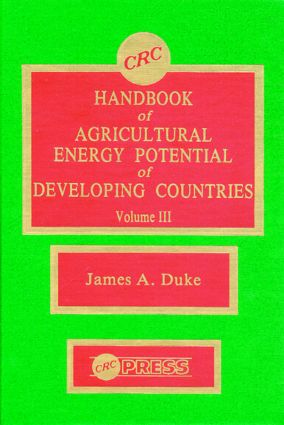 Handbook of Agriculture Energy Potential Development, Volume III (Hardback) book cover