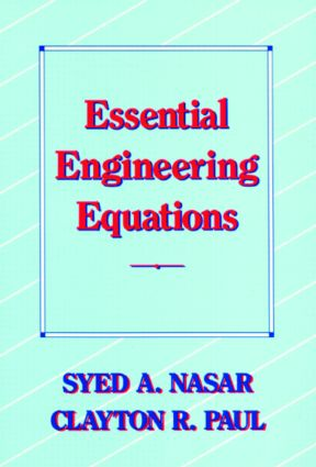 Essential Engineering Equations: 1st Edition (Hardback) book cover