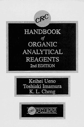 CRC Handbook of Organic Analytical Reagents: 2nd Edition (Hardback) book cover