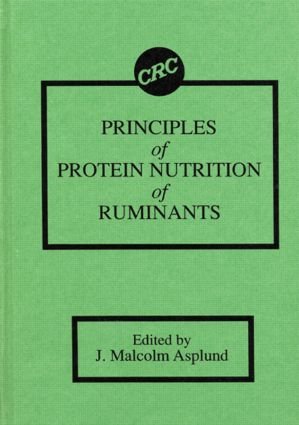 Principles of Protein Nutrition of Ruminants: 1st Edition (Hardback) book cover