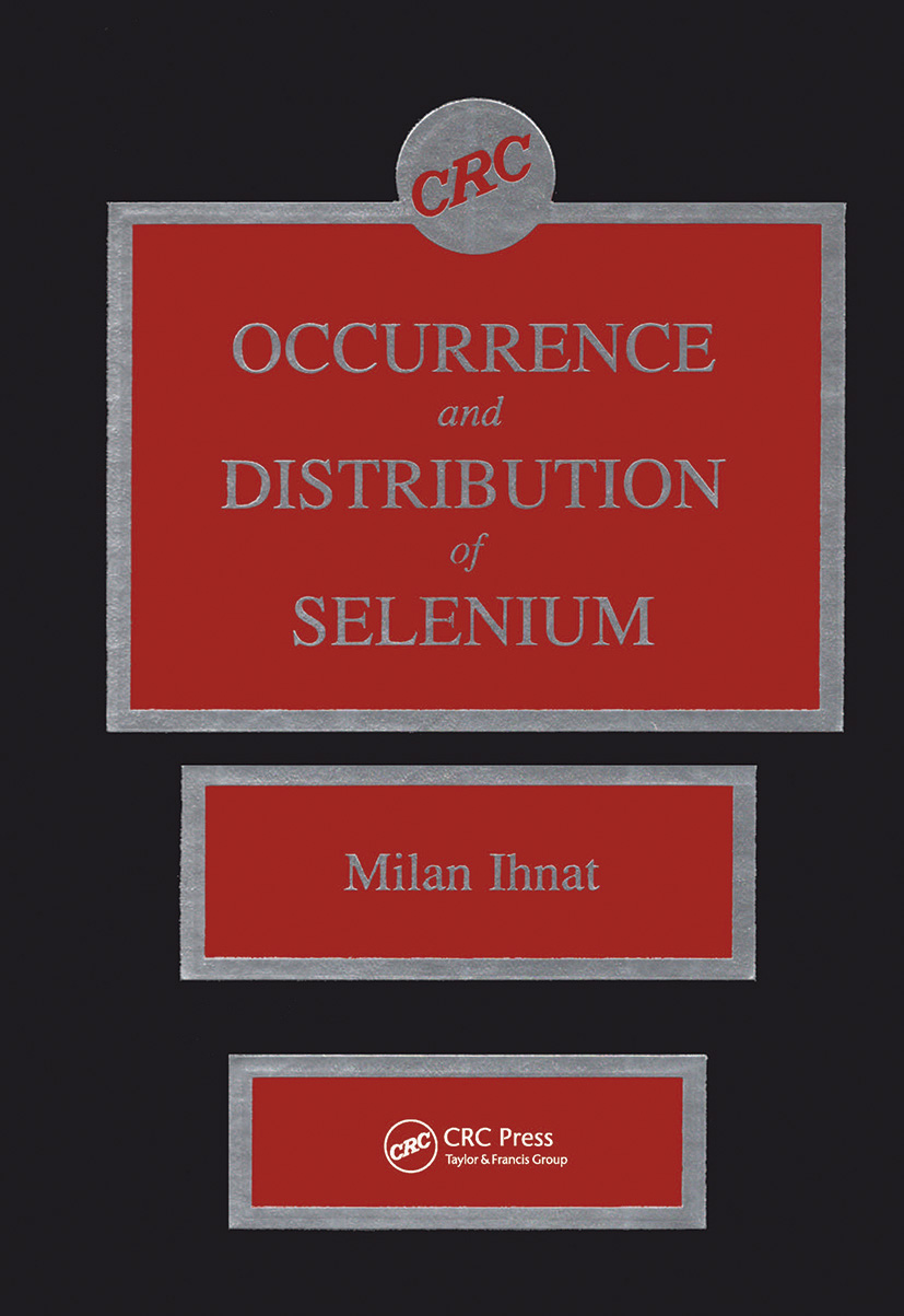 Occurence & Distribution of Selenium: 1st Edition (Hardback) book cover