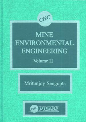 Mine Environmental Engineering, Volume II: 1st Edition (Hardback) book cover