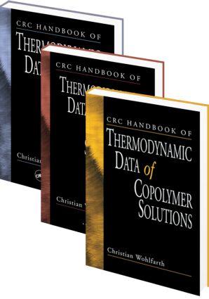 CRC Handbook of Thermodynamic Data of Polymer Solutions, Three Volume Set: 1st Edition (Hardback) book cover