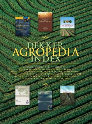 Dekker Agropedia Index: 1st Edition (Hardback) book cover