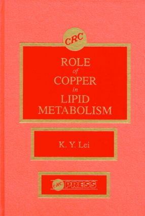 Roles of Copper in Lipid Metabolism: 1st Edition (Hardback) book cover