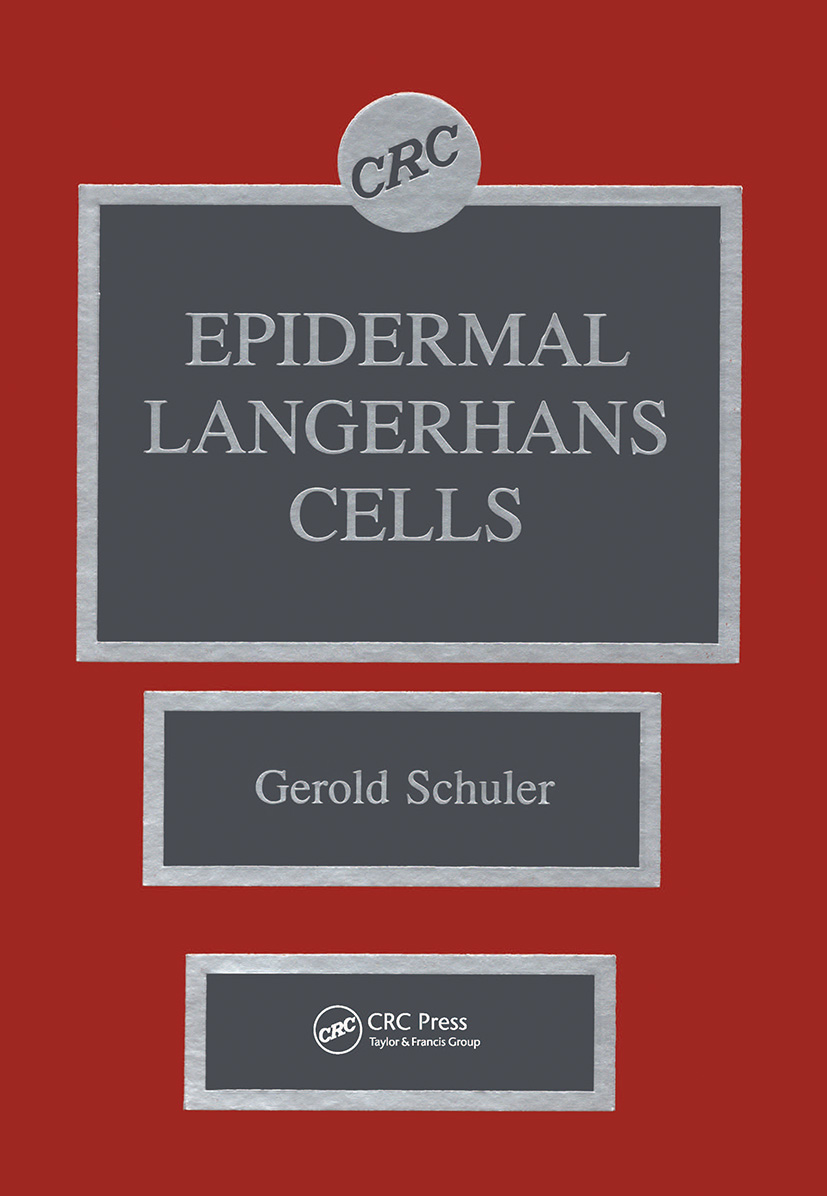 Epidermal Langerhans Cells: 1st Edition (Hardback) book cover