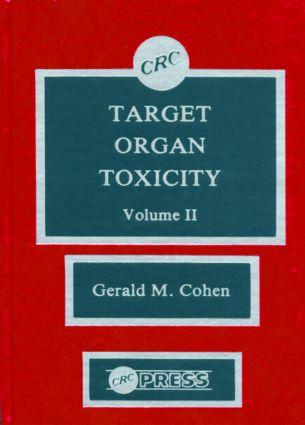 Target Organ Toxicity, Volume II: 1st Edition (Hardback) book cover