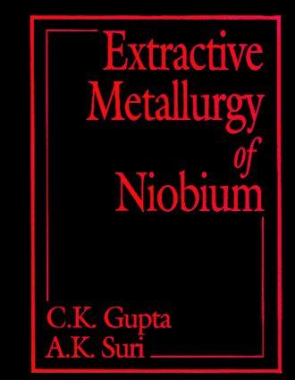 Extractive Metallurgy of Niobium: 1st Edition (e-Book) book cover