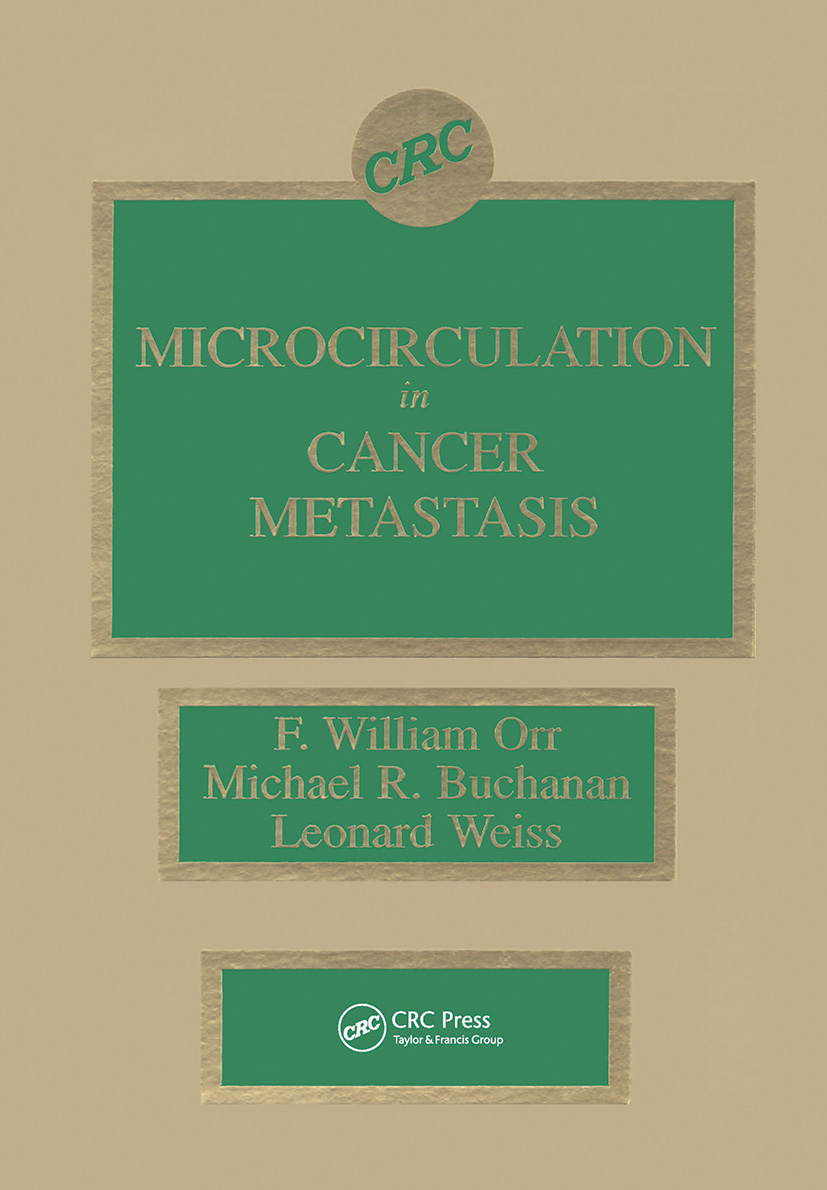 Microcirculation in Cancer Metastasis: 1st Edition (Hardback) book cover