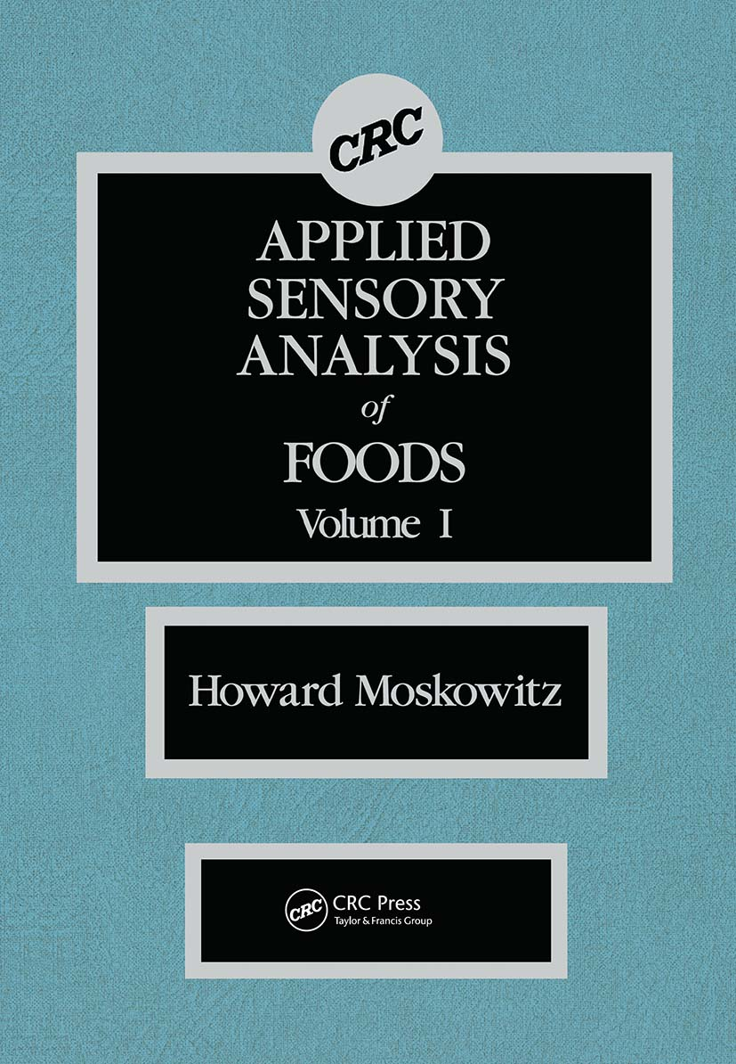 Applied Sensory Analy of Foods: 1st Edition (Hardback) book cover