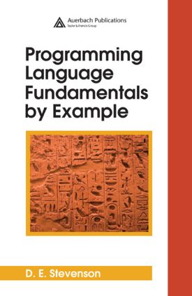 Programming Language Fundamentals by Example: 1st Edition (Hardback) book cover