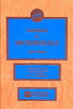 Handbook Microbiology, Volume X: 1st Edition (Hardback) book cover