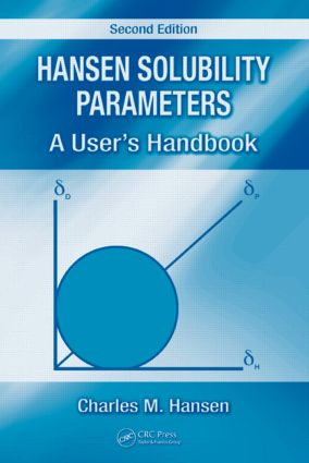 Hansen Solubility Parameters: A User's Handbook, Second Edition, 2nd Edition (Hardback) book cover