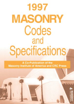 1997 Masonry Codes and Specifications: 1st Edition (Hardback) book cover