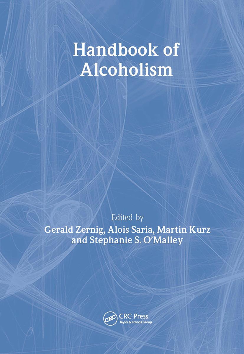 Handbook of Alcoholism book cover