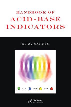 Handbook of Acid-Base Indicators: 1st Edition (Hardback) book cover