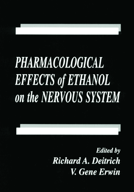 Pharmacological Effects of Ethanol on the Nervous System: 1st Edition (Hardback) book cover