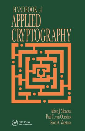 Handbook of Applied Cryptography: 1st Edition (Hardback) book cover