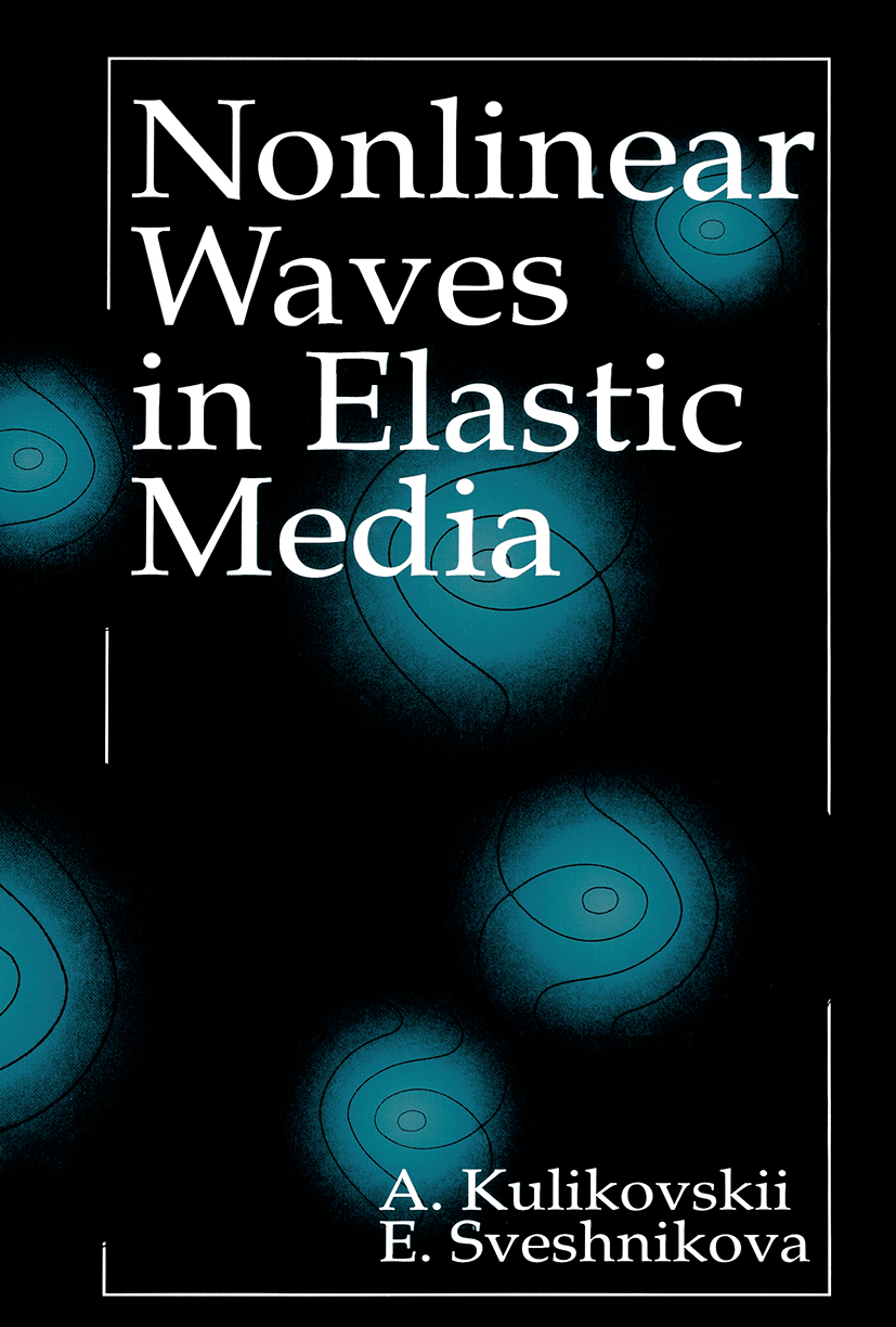 Nonlinear Waves in Elastic Media: 1st Edition (Hardback) book cover