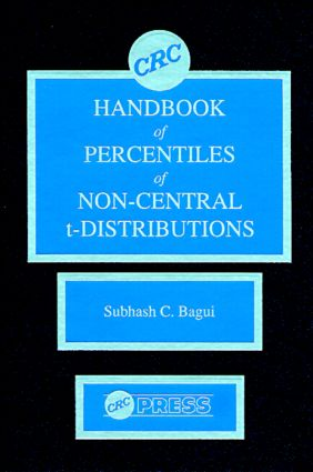 CRC Handbook of Percentiles of Non-Central t-Distributions: 1st Edition (Hardback) book cover