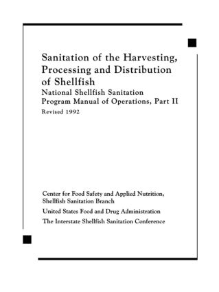 Sanitation of the Harvesting, Processing, and Distribution of Shellfish: 1st Edition (Hardback) book cover