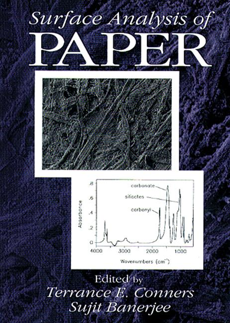 Surface Analysis of Paper: 1st Edition (Hardback) book cover
