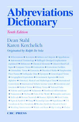 Abbreviations Dictionary: 10th Edition (Hardback) book cover