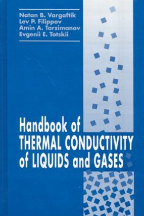 Handbook of Thermal Conductivity of Liquids and Gases: 1st Edition (Hardback) book cover