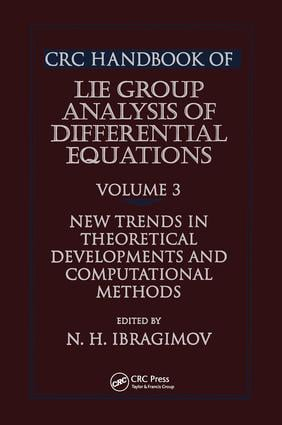 CRC Handbook of Lie Group Analysis of Differential Equations, Volume III: 1st Edition (Hardback) book cover