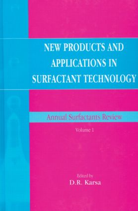 New Products and Applications in Surfactant Technology: 1st Edition (Hardback) book cover