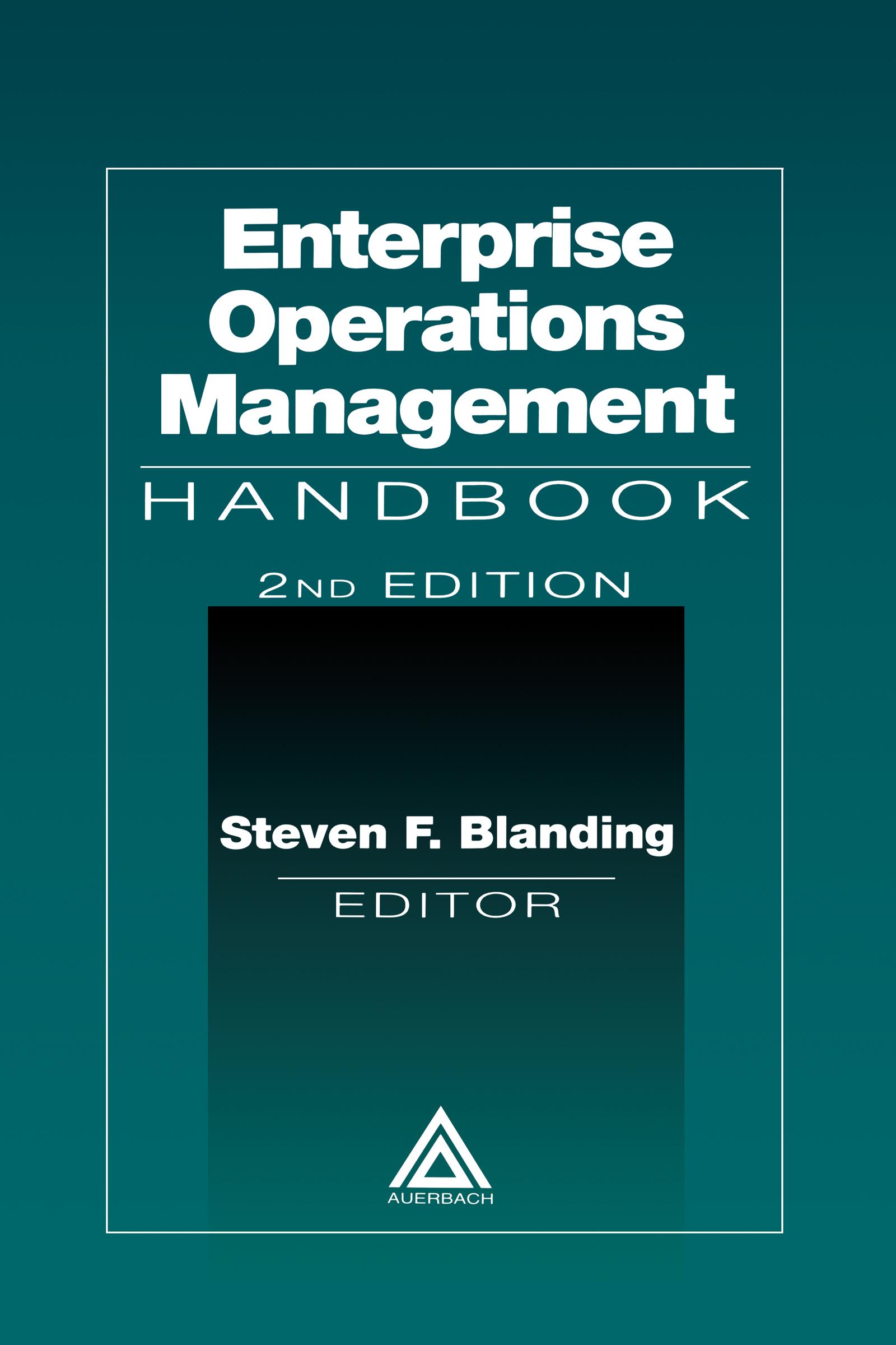 Enterprise Operations Management Handbook, Second Edition: 2nd Edition (Hardback) book cover