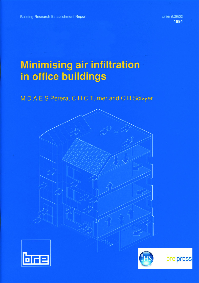 Minimising Air Infiltration in Office Buildings: (BR 265), 1st Edition (Paperback) book cover
