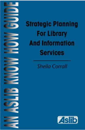 Strategic Planning Library&Inf: 1st Edition (Paperback) book cover
