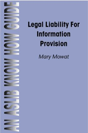 Legal Liability for Information Provision: 1st Edition (Paperback) book cover