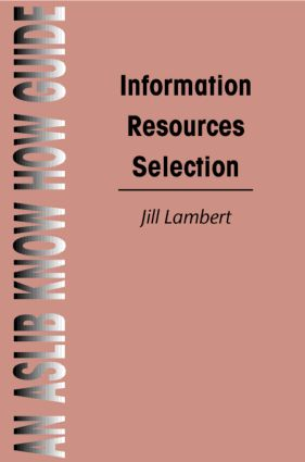 Information Resources Selection book cover
