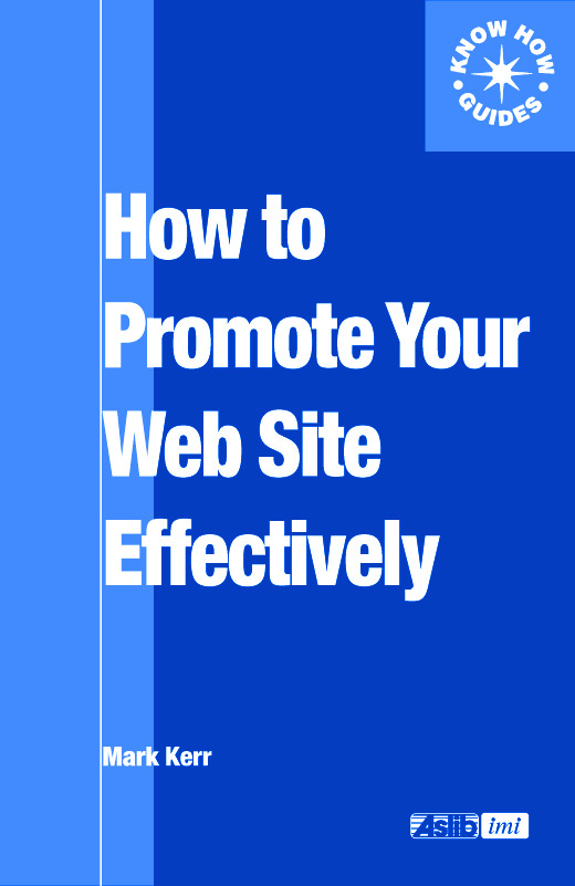How to Promote Your Web Site Effectively: 1st Edition (Paperback) book cover